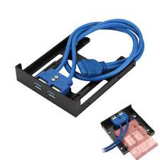 "Frontpanel Front Panel USB 3.0 3.5"" 8.89cm Floppy Einschub 2x USB SSD Halterung"