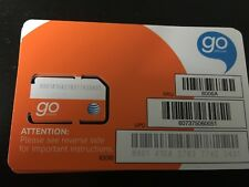 AT&T GO PHONE STANDARD SIM CARD FOR PREPAID