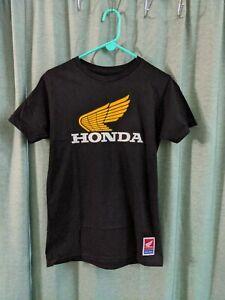 Troy Lee Designs Honda Retro Wing Men's Tee Shirt Black/White/Gold Size Small