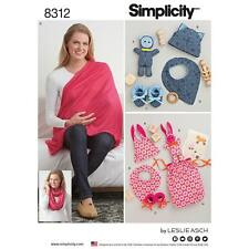 SIMPLICITY SEWING PATTERN KNIT BABY GIFTS & NURSING SHAWL 8312