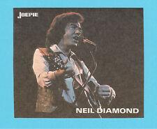 Neil Diamond  - vintage Joepie Sticker Card A
