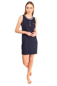 RRP €180 BLUGIRL BLUMARINE Nightdress Size 44 / M Stretch Lace Trim Half Button