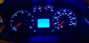 led clock upgrade kit lightenUPgrade Blue ford transit mk7