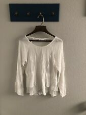 Lush white top size small long sleeves