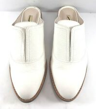 Louise Et Cie White Leather Freyda Mules Womens Size US 7M
