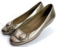 ECCO Women's Flats $110 Shoes Size EU 40 US 9-9.5 Patent Leather Gold
