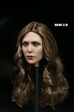 1/6 Elizabeth Olsen Scarlet Witch Long Curl Head For Scarlet Witch Female Figure