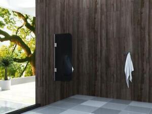 Glas Urinal Trennwand SMOKE 90x40cm Schamwand Pissoir Urinalwand WC Sichtschutz