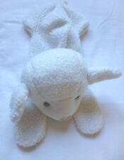 doudou ancien range pyjama mouton agneau en peluche Nounours blanc beige vintage