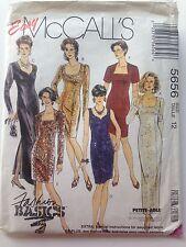 Easy McCall's 5656 Size 12 Misses' Dress Pattern Uncut