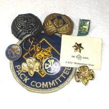 LOT 10 Vintage Girl/Boy Scout pins/slide/tie tac B42