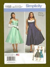 Simplicity Sewing Pattern 1155~Classic Retro 50's Rockabilly Dress (Sizes 10-18)