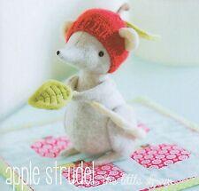 APPLE STRUDEL Shrew - Sewing Craft PATTERN - Soft Toy Felt Doll Bear Bird