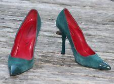 Escarpîns Cesare Paciotti cuir et daim vert taille 38 talon 11 cm très chics