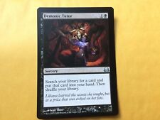 Misprint Demonic Tutor extra black bar on side Divine vs Demonic MTG Magic Card