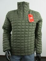 Mens TNF The North Face Thermoball Insulated Zip Pullover Puffer Jacket Green