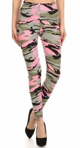 Buttery Soft Candy Pink Camouflage Leggings