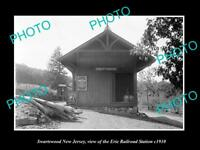 OLD LARGE HISTORIC PHOTO OF SWARTSWOOD NEW JERSEY, ERIE RAILROAD STATION c1910 2