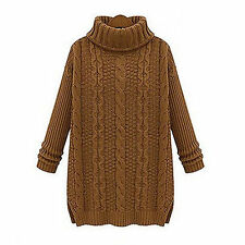 Women's Chunky/Cable Knit Turtleneck and Mock