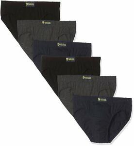 Navigare Set 6 Pièces Slips Caleçon Homme Coton Elastique Lingerie Blanc Noir