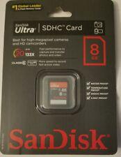 SanDisk Ultra 8GB, Class 10 10MB/s - SDHC Card - SDSRHU-008G-A11C New 2011