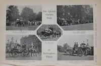 1900 Imprimé Reines Jardin Fête Buckingham Palace Prince de Galles Duke Of York