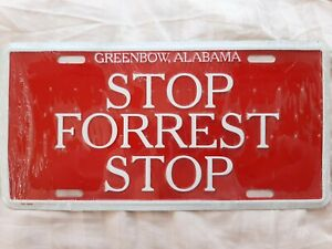 NEW BUBBA GUMP | STOP FORREST STOP | LICENSE PLATE