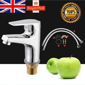 Modern Bathroom Basin Sink Tap Mixer Taps Monobloc Waterfall Chrome Brass Faucet