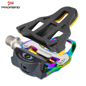 PROMEND Bicycle Self-Locking Pedals w/ Cleats Road Bike SPD-SL Clipless Pedals