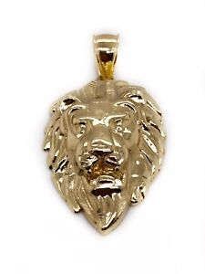14k Gold Lion King Lion Head Charm Pendant Beyonce Vintage Fine Jewelry Charm made in the 1990/'s Great Christmas Gift Unique diamond Cut