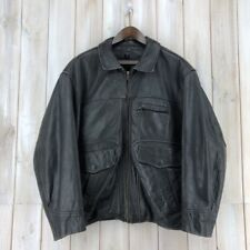 Vintage Redskins Highwayman Style Leather Bomber Biker Jacket Made in France L