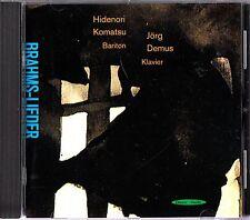 HIDENORI KOMATSU & JORG DEMUS- Brahms Lieder CD (2001 MINT) Dreyer-Gaido