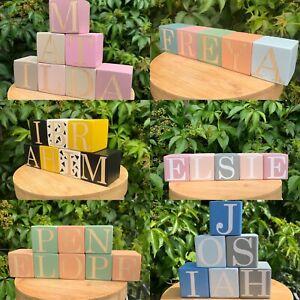 Personalised Wooden Name Blocks, Nursery Blocks, Name Cubes, Letter Blocks Decor