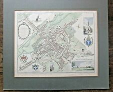 1798 Canterbury Town Plan Hasted Bayly Cathedral St Augustines Kent Antique Map