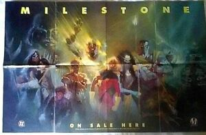 MILESTONE DC 1994 Comic Promo Poster 22 x 34 Milestone Media
