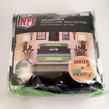 NFL Seattle Seahawks Love Seat Sofa Reversible Furniture Protector w/Elastic