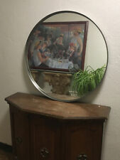 Circular Round wall 27 1/2� Mirror Ikea Silver Metal Frame Grundtal Table Top