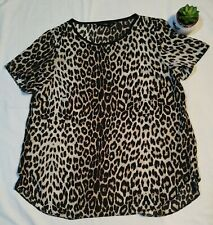 Leopard print top size 14