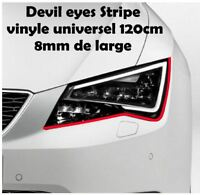 Devil Eyes Folie sticker Stripe universel 2x 120cm x 8mm