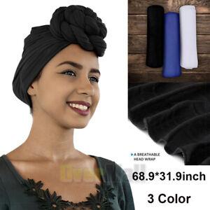 Women Head Wrap Scarfs - African Scarf Hair Ties - Long Stretch Sizing Scarfs
