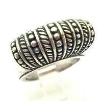 Brighton Dome Design Band Sterling Silver 925 Ring  14g Sz.6 JAY0109
