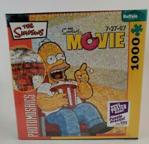 Robert Silvers Photomosaics The Simpsons Movie 1000-Piece Puzzle NEW, Sealed