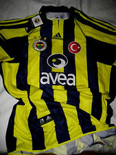 ADIDAS ISTANBUL TURKEY FENERBAHCE FC SOCCER JERSEY-EMBROIDERED SEWN PATCHES-NWT-