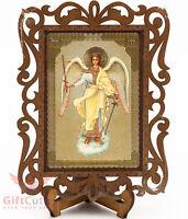 Guardian angel Ангел Хранитель Russian Christian Orthodox Church Icon Wood