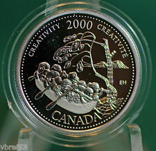 2000 CANADA Millennium Sterling Silver Quarter: Creativity-Expression 4 all time