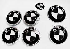Black & White GLOSSY Decal Sticker for BMW BADGE EMBLEMS Rims Hood Trunk Wheels