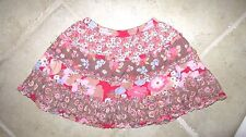 EUC Youth Girl's Size 116 / 6 Room Seven True Love Isla Pink Brown Lined Skirt