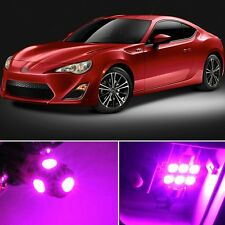 6 x Premium Hot Pink LED Lights Interior Package Kit for Scion FRS 2013-2016