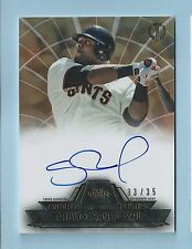 PABLO SANDOVAL 2014 TOPPS TRIBUTE TO THE PASTIME AUTOGRAPH AUTO /35 GIANTS