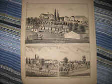 ANTIQUE 1874 YORK TOWNSHIP DUPAGE COUNTY ILLINOIS PRINT IRELAND PLUMMER FAMILY N